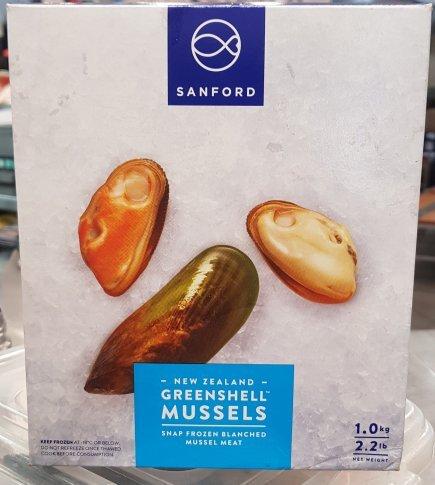 Frozen - NZ Green Mussel Meat (1kg)