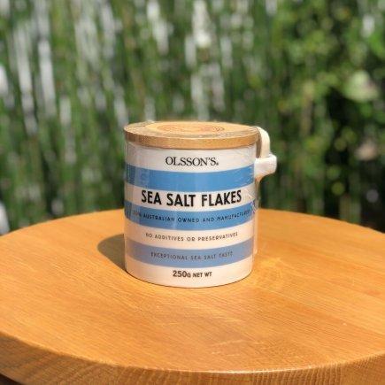 G - Olsson's Sea Salt Flakes (Stoneware Jar 250g)